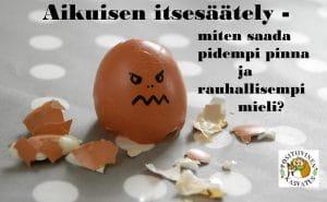 Kuvassa ärtynyt rikkonainen kananmuna