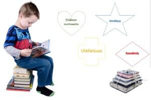 Poika lukemassa kirjaa