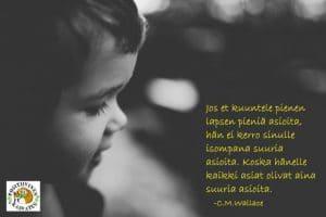 Jutteleva lapsi