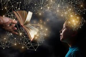 kirjan tiedot siirtyvät lapsen aivoihin